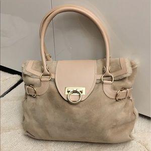 Salvatore Ferragamo fur handbag