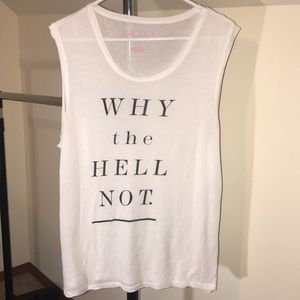 NEW LISTING - RACHEL ROY TANK TOP WITH SAYING