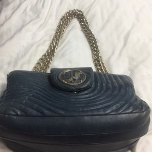 Henri Bendel Navy Chained bag