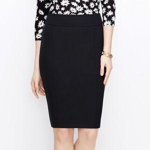 ANN TAYLOR - Black Pencil Skirt 8 / Medium