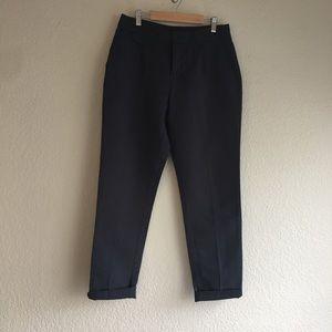 Zara Linen High Rise Trousers, Navy Blue. Sz 2.
