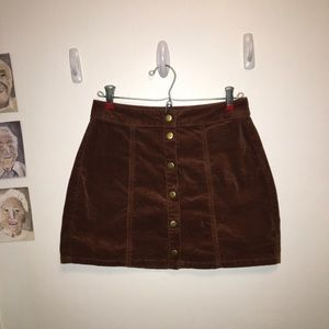 Brandy Melville - Velvet Button Mini Skirt