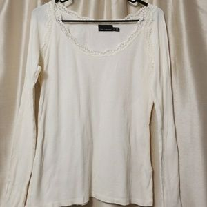 White thermal long sleeve top by the Limited