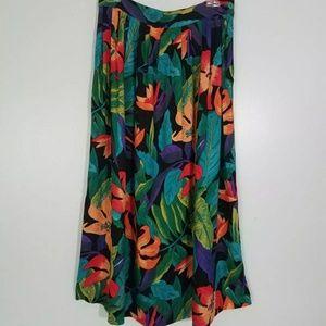 Vintage 90s Hawaiin Tropical Skirt