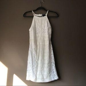 Topshop lace halter dress