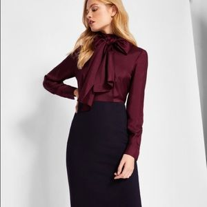 Ted Baker JENSAH Neck tie bodycon dress