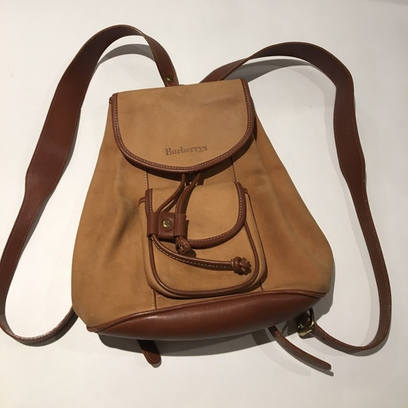 74fd180afb9e Vintage Burberry leather backpack
