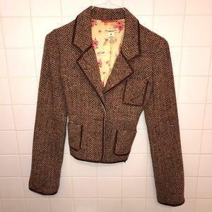 A&F   brown wool blazer