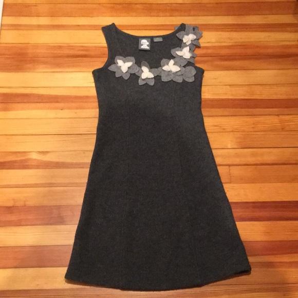 Anthropologie Dresses & Skirts - Grey boiled wool Anthropologie dress