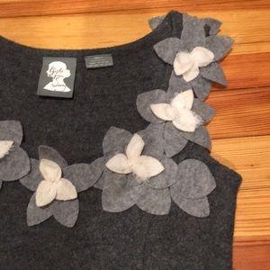 Anthropologie Dresses - Grey boiled wool Anthropologie dress