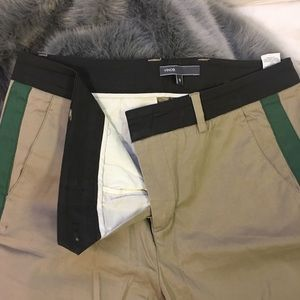 Vince Tapered Trousers w Green Stripe