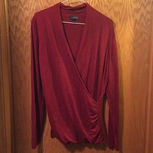 The Limited red wrap-effect sweater. Size large