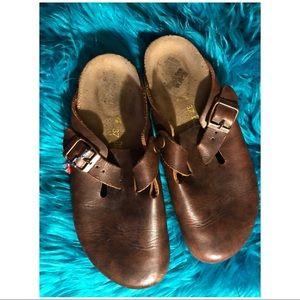 Birkenstock Leather Brown Sz6