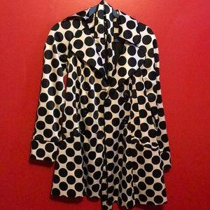 Black and white elegant pea coat
