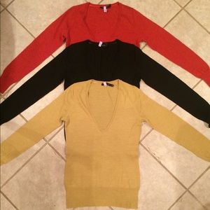 Lot of 3 Limited brand sweaters-size Medium