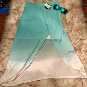 NWT Bebe Ombré Slit Skirt