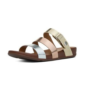 NWT FitFlop Precious Metals Gladdie Slide Sandals