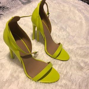 Asos lime green high heels