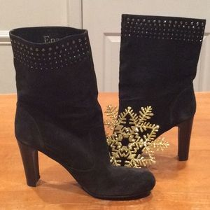 """NEW """"ENZO ANGIOLINI"""" BLACK,SUEDE BOOTS"""