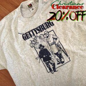 🎅🏼 20% OFF | vtg// lt. gray gettysburg t-shirt
