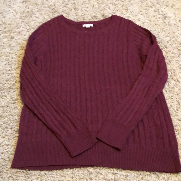 71% off Merona Sweaters - Merona maroon cable knit sweater from ...