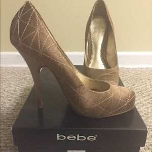 Bebe quilted pumps