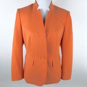 Nine West Blazer Womens Size 8 Orange Career