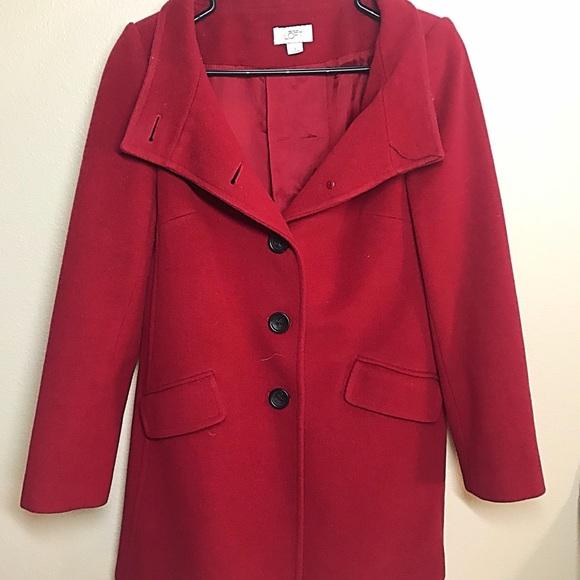 Loft Jackets Coats Red Button Down Jacket Poshmark