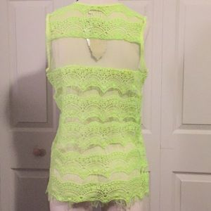 neslay Tops - Neon sheer lace top