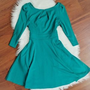 Teal skater dress