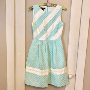 Ivy + Blue Mint and White Polka Dot Dress RARE