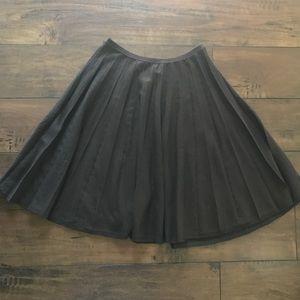 Ann Taylor Petites Pleated Knit Full Skirt