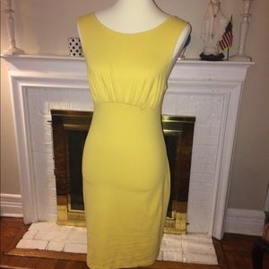 Susana Monaco stretch yellow Dress Size M