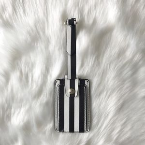 [Henri Bendel] Stripe Luggage Tag