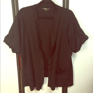 Croft & Barrow Black Open Front Cardigan Sweater