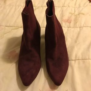 3a2143addce Impo Shoes - Gorgeous wine colored suede ankle boots