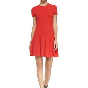 Rebecca Minkoff short sleeve flared jacquard dress