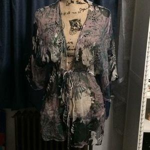 Sheer blouse wrap