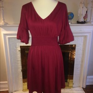 Susana Monaco stretch raspberry red Dress Size M