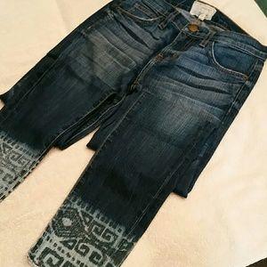 Current Elliott Free People Tribal Stiletto Jeans