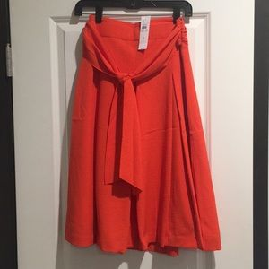 Orange Ann Taylor long skirt size 4 with tags