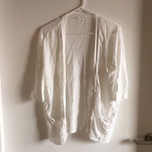 Sweaters - White Cardigan in Small
