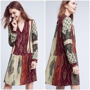 Anthropologie TINY Gwen Patchwork Shirtdress M