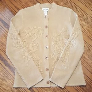 Embroidered Cardigan Jacket