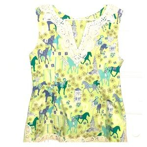 (NEVER BEEN WORN) Low Riders Racehorse Tunic Top