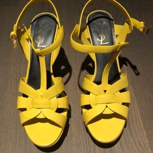 YSL yellow patent leather heels size 39.5