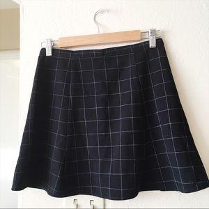 NWOT American Apparel Lulu grid skirt black M