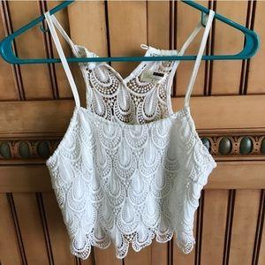 LF lace crop top