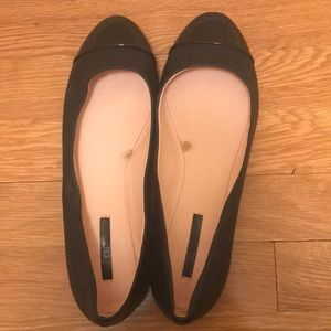 Zara Trafaluc Flats with Patent Leather Toes
