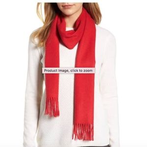 Solid woven cashmere scarf red Nordstrom's